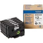 Brother Labels HGe, HG 5-Piece Set Brother Tape HG-231 12mm