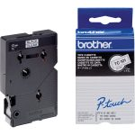Brother TC-101 Black on Clear Label Tape 12mm