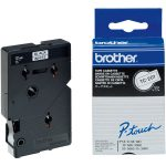 Brother TC-201 Black on White Label Tape 12mm