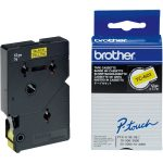 Brother TC-601 Black on Yellow Label Tape 12mm