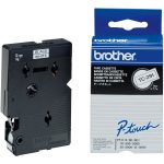 Brother TC-291 Black on White Label Tape 9mm