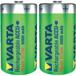 Varta 56720 101 402 NiMH 1.2V D Size 3000mAh Rechargeable Battery …