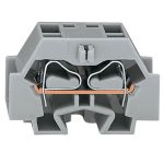 WAGO 262-331 4 Conductor Fixing Flanges Terminal Block Grey AWG28-…