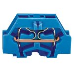 WAGO 261-304 2 Conductor Fixing Flanges Terminal Block Blue AWG28-…