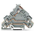 WAGO 280-583 5mm 3-conductor Actuator Terminal Block Grey AWG 28-1…