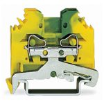 WAGO 281-107 6mm Ground Terminal Block Green-yellow AWG 28-12 100pk