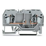 WAGO 281-915/281-410 6mm 2-cond. Diode 250V Terminal Block Grey AW…