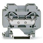 WAGO 283-101 12mm 2-conductor Through Terminal Block Grey AWG 24-6…