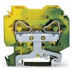 WAGO 283-107 12mm 2-conductor Ground Terminal Block Green-yellow A…