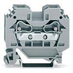 WAGO 284-101 10mm Through Terminal Block Grey AWG 24-8 50pk