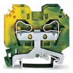 WAGO 284-107 10mm 2-conductor Ground Terminal Block Green-yellow A…