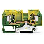 WAGO 284-907/999-950 10mm 2-cond. Thr. T-blk. ATEX Ex-e II Grn-yel…