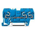WAGO 290-664 5mm Thro. T-blk. 1 Fit/ 2 Fit Cl. ATEX Ex I Blue AWG …