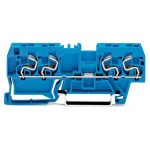 WAGO 290-864 5mm Thro. T-blk. 2 FIT Cl./2 FIT Cl. ATEX Ex I Blue A…