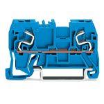 WAGO 290-964 5mm Thro. T-blk. 1 Fit Cl./1 Fit Cl. ATEX Ex I Blue A…