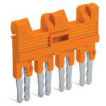 WAGO 282-434/100-000 4-way Insulated Jumper Orange 50pk