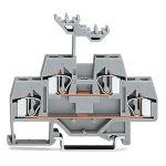 WAGO 281-619 6mm Double Deck Through Terminal Block Grey AWG 28-12…