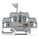 WAGO 281-634/281-413 6mm Double Deck LED DC 24V Trmnl. Block Grey …