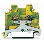 WAGO 280-107 5mm Ground Terminal Block Green-yellow AWG 28-14 100pk