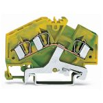 WAGO 281-637 6mm 3-conductor Ground Terminal Block Green-yellow AW…