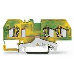 WAGO 281-687 6mm 3-conductor Ground Terminal Block Green-yellow AW…