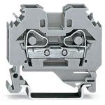 WAGO 282-101 8mm 2-conductor Through Terminal Block Grey AWG 24-10…