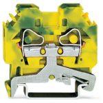 WAGO 282-107 8mm 2-conductor Ground Terminal Block Green-yellow AW…