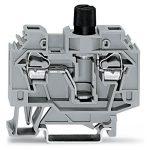 WAGO 282-128 13mm 2-conductor Fuse 1/4×1 1/4in Terminal Block Grey AWG …