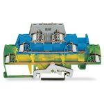 WAGO 280-510 5mm Triple Deck Trm. Block Green-yellow, Blue, Grey A…