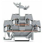 WAGO 280-519 5mm Double Deck Terminal Block Grey AWG 28-14 50pk