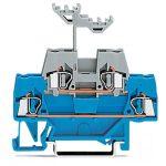 WAGO 280-523 5mm Double Deck Terminal Block Blue, Grey AWG 28-14 50pk