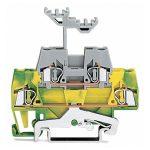 WAGO 280-527 5mm Double Deck Ground Trm. Block Green-yellow, Grey …