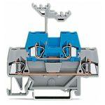 WAGO 280-533 5mm Double Deck Terminal Block Grey, Blue AWG 28-14 50pk