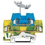 WAGO 280-537 5mm Double Deck Ground Trm. Block Green-yellow, Blue …