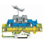 WAGO 280-547 5mm Triple Deck Trm. Block Green-yellow, Blue, Grey A…