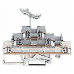 WAGO 280-548 5mm Triple Deck Terminal Block White, Grey AWG 28-14 40pk