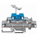 WAGO 280-552 5mm Triple Deck Terminal Block Grey, Blue AWG 28-14 40pk