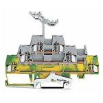 WAGO 280-557 5mm Triple Deck Terminal Block Green-yellow, Grey AWG…