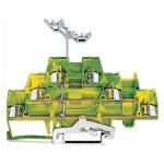 WAGO 280-597 5mm Triple Deck Terminal Block Green-yellow AWG 28-14…