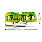 WAGO 282-687/999-950 8mm 3-cond. Gnd T-blk. ATEX Ex-e II Grn-yel A…