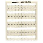 WAGO 209-618 WSB Quick Marker Vertical ( 1/2) 50ea White 5pk