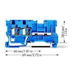 WAGO 769-251/000-006 2-conductor/1-pin Carrier Terminal Block Blue…