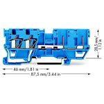 WAGO 769-171/000-006 2-conductor/2-pin Carrier Terminal Block Blue…