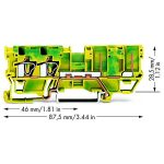WAGO 769-217 2-conductor/2-pin Ground Carrier Terminal Block Green…
