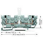 WAGO 769-242 1-conductor/1-conductor Disconnect Block 2-jumper Gre…