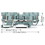 WAGO 769-151 4-pin Carrier Terminal Block Grey 50pk