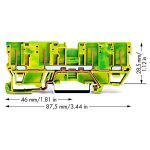 WAGO 769-207 4-pin Ground Carrier Terminal Block Green-yellow 50pk