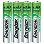 Energizer 638624 Rechargeable AAA Battery x4 NiMH 1.2V