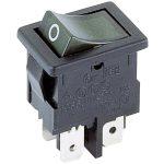 Marquardt 1855.1108 4A IP40 Illuminated Rocker Switch DPST Green F…