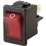 Marquardt 1855.1102 4A IP40 Illuminated Rocker Switch DPST Red Faston